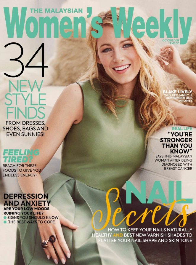 Blake Lively - The Malaysian Womens Weekly Magazine (October 2018)