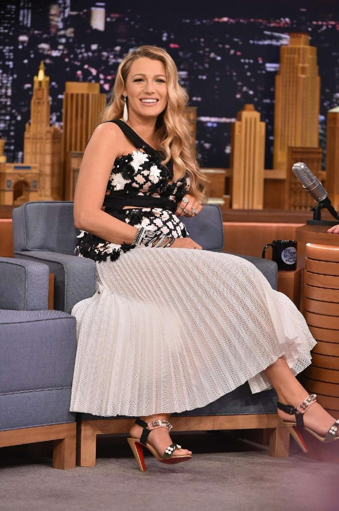 Blake Lively – Tonight Show With Jimmy Fallon in New York