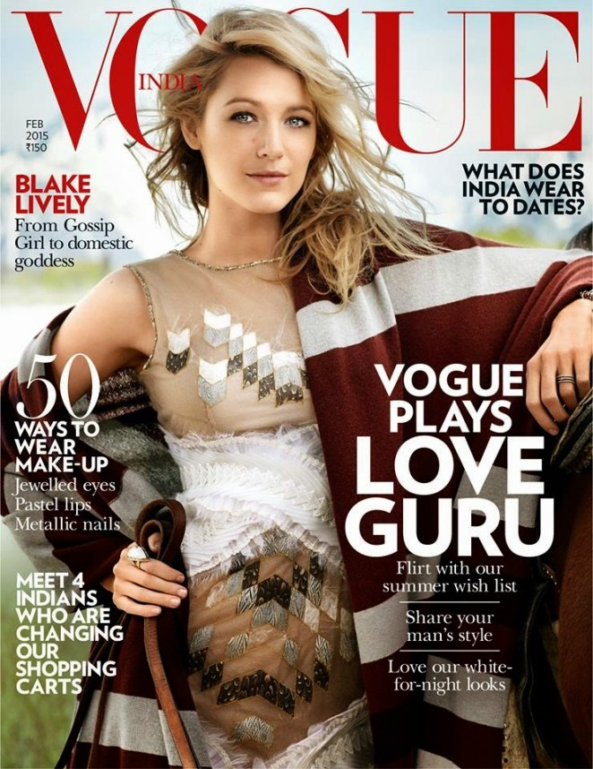 Blake Lively - Vogue India Magazine (February 2015)