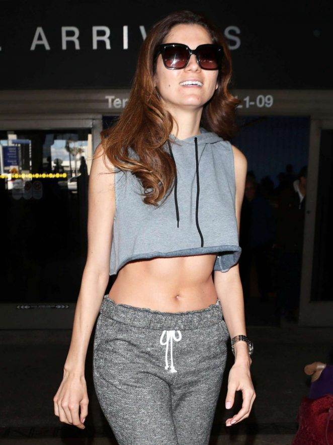 Blanca Blanco - Arriving at LAX Airport in Los Angeles