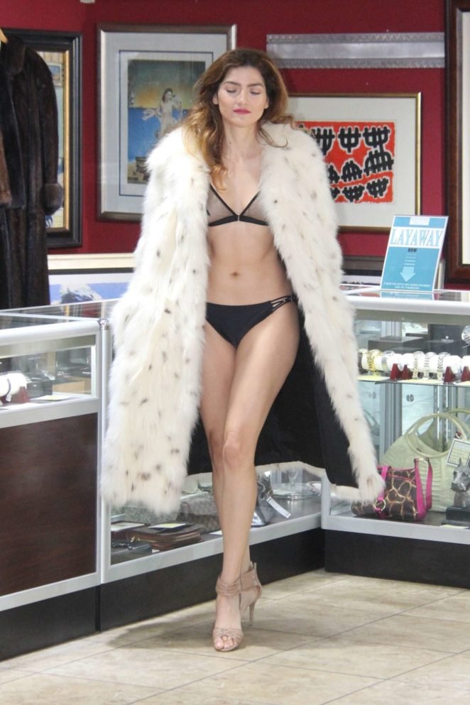 Blanca Blanco at a local pawn shop in the 90210 area in Beverly Hills
