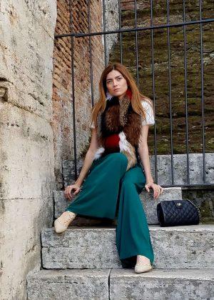 Blanca Blanco at the Colosseum Amphitheatre in Rome