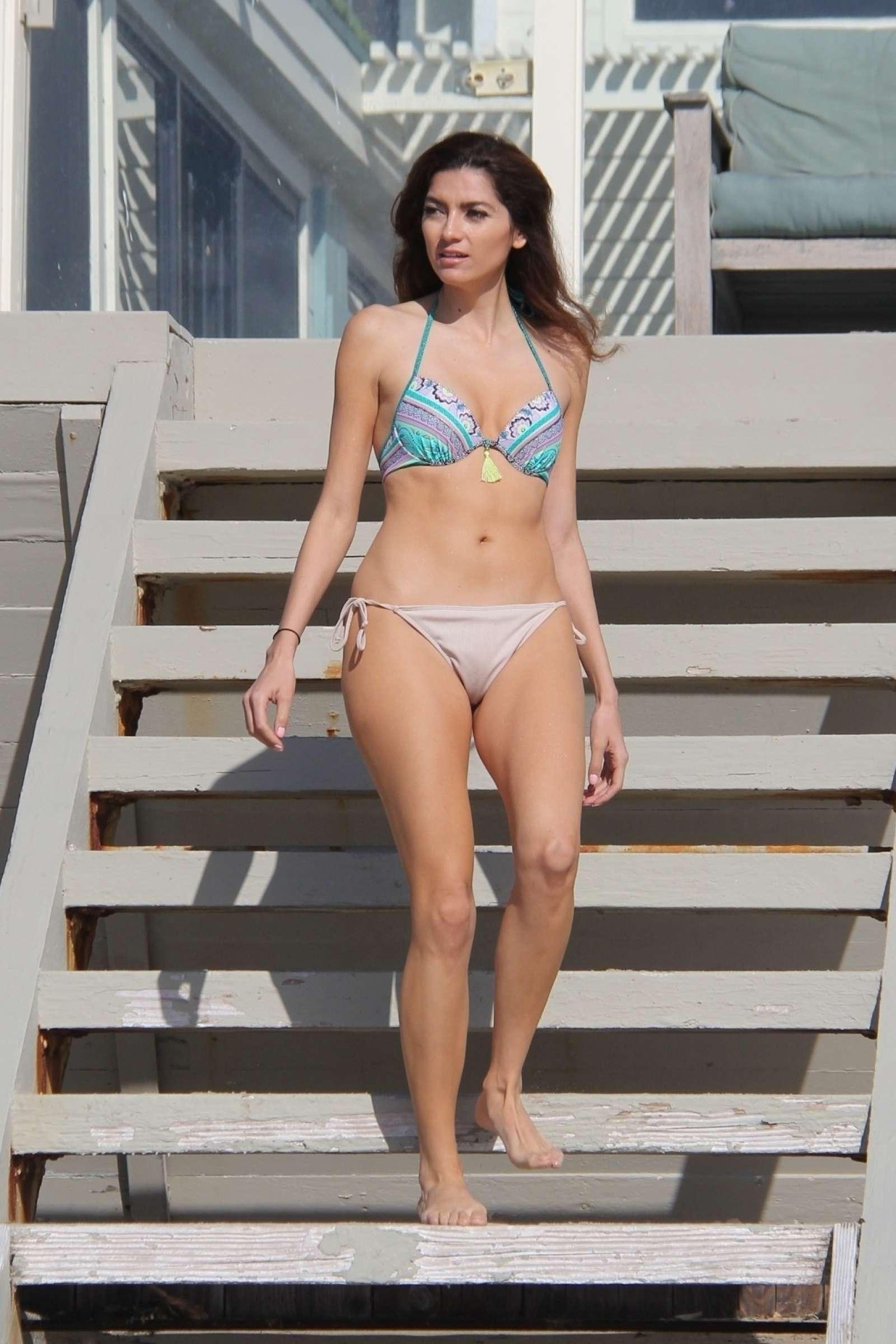 Blanca Blanco Bikini Candids at the beach in Malibu
