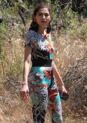 Blanca Blanco - Enjoys some hiking in Malibu