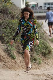 Blanca Blanco -  Goes for a hike in Malibu