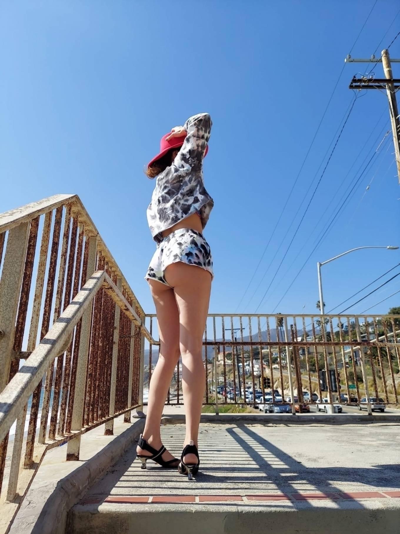 Blanca Blanco - In a tie-dye ensemble in Santa Monica