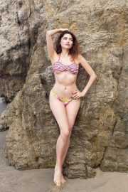 Blanca Blanco in Bikini on Malibu Beach