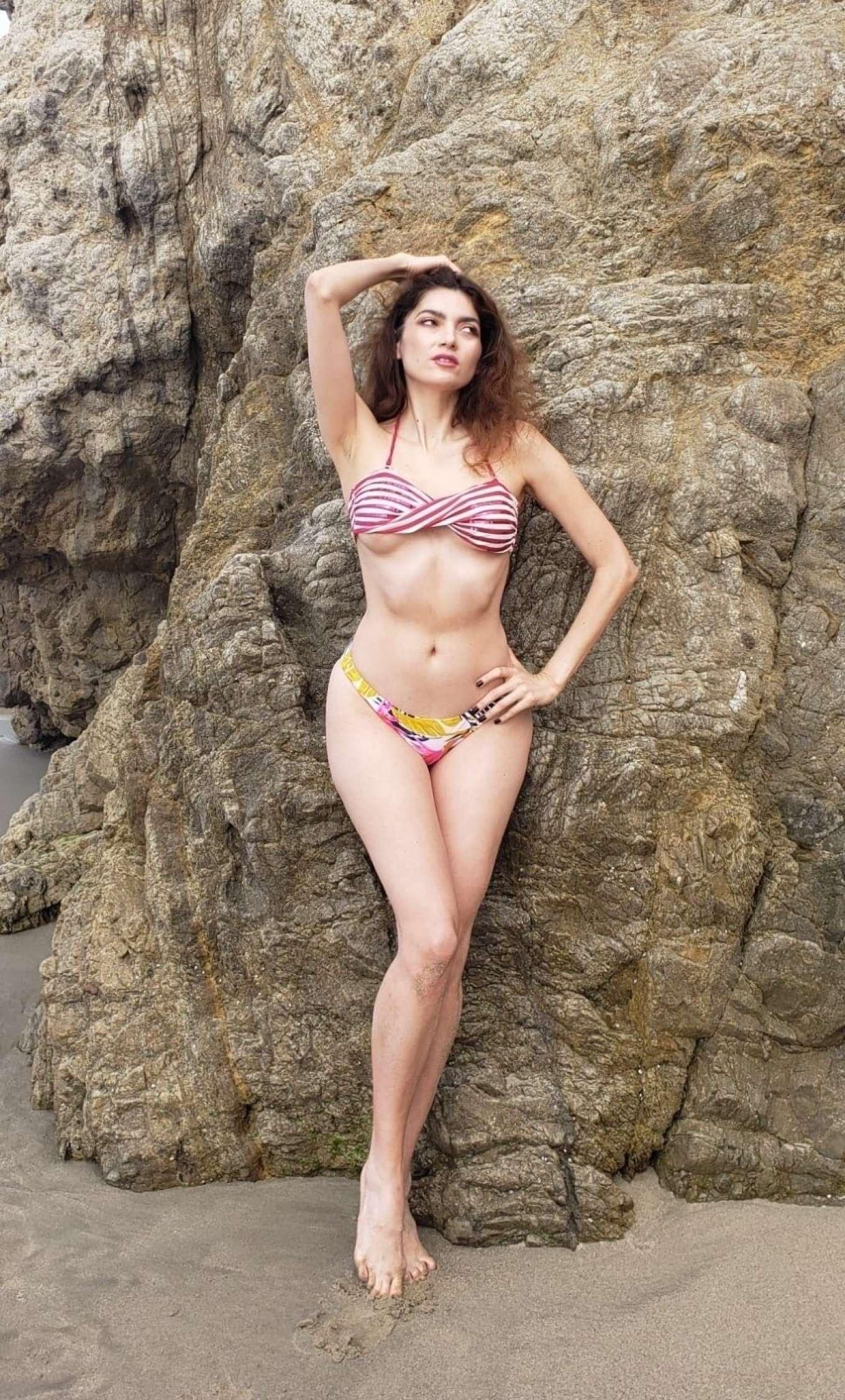 Blanca Blanco in Bikini on Malibu Beach