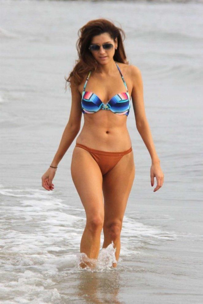 Blanca Blanco in Bikini on the beach in Malibu