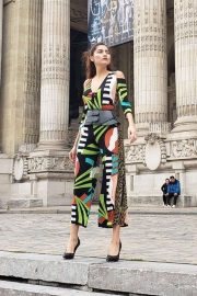 Blanca Blanco in Colorful Outfit - Out in Paris