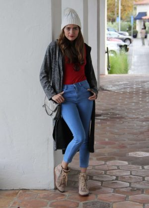 Blanca Blanco in Jeans at a Starbucks store out in Los Angeles
