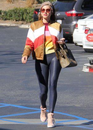 Blanca Blanco in Leggings out in Malibu