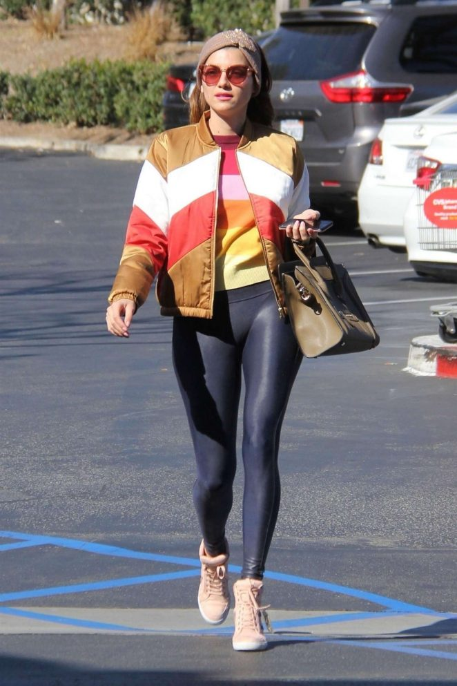 Blanca Blanco in Leggings out in Malibu