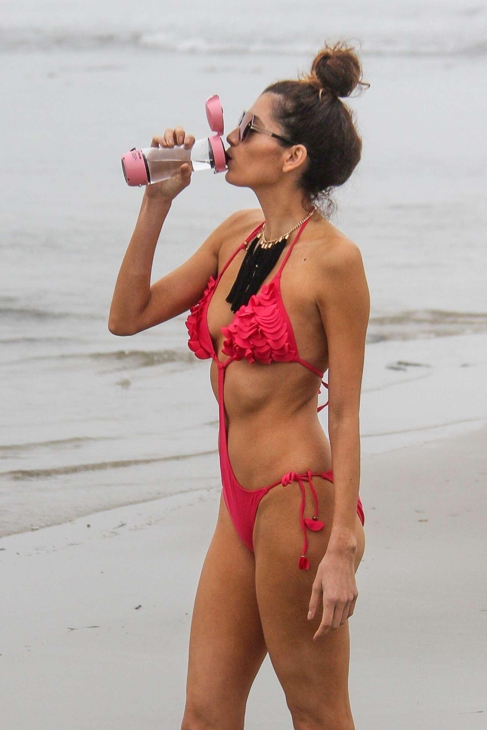 Blanca Blanco 2018 : Blanca Blanco in Red Swimsuit 2018 -04