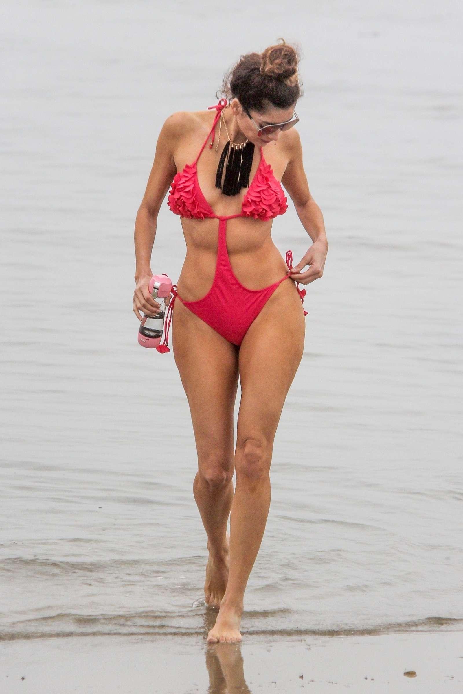 Blanca Blanco 2018 : Blanca Blanco in Red Swimsuit 2018 -05