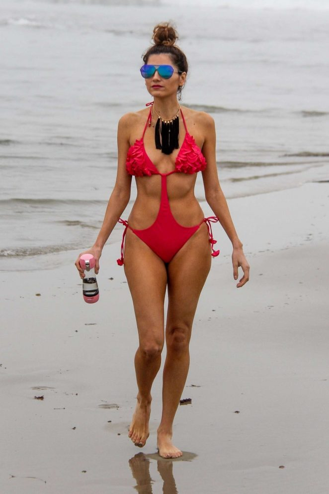 Blanca Blanco in Red Swimsuit 2018 -24
