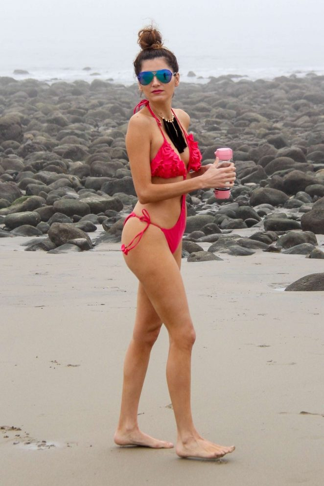 Blanca Blanco 2018 : Blanca Blanco in Red Swimsuit 2018 -31