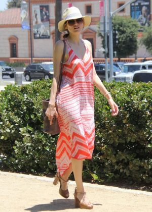 Blanca Blanco in Summer Dress at a park in Los Angeles