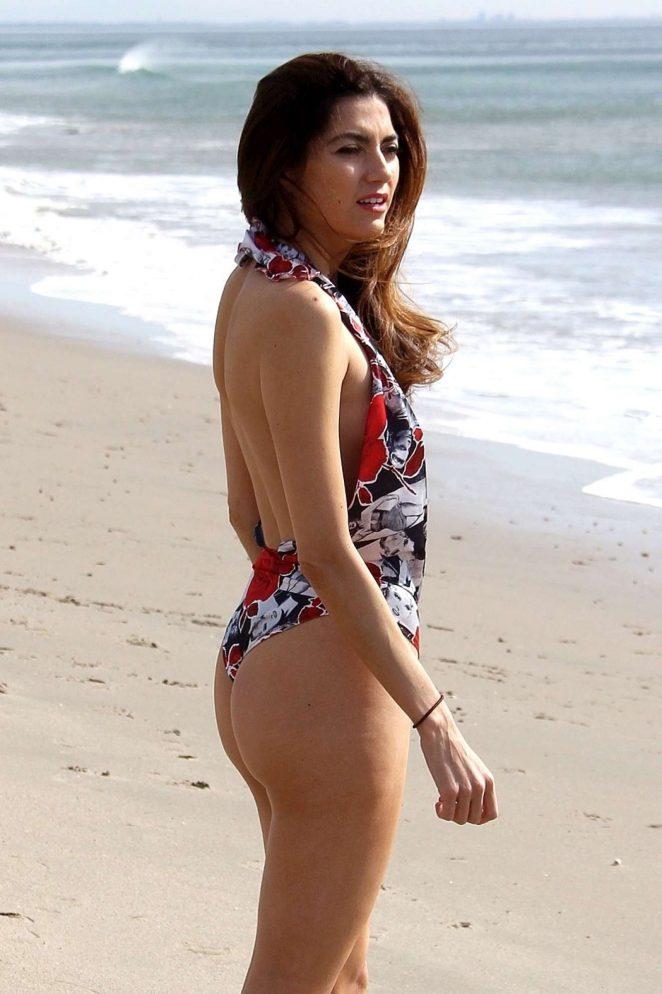 Blanca Blanco - in Swimwear hits the beach in Malibu