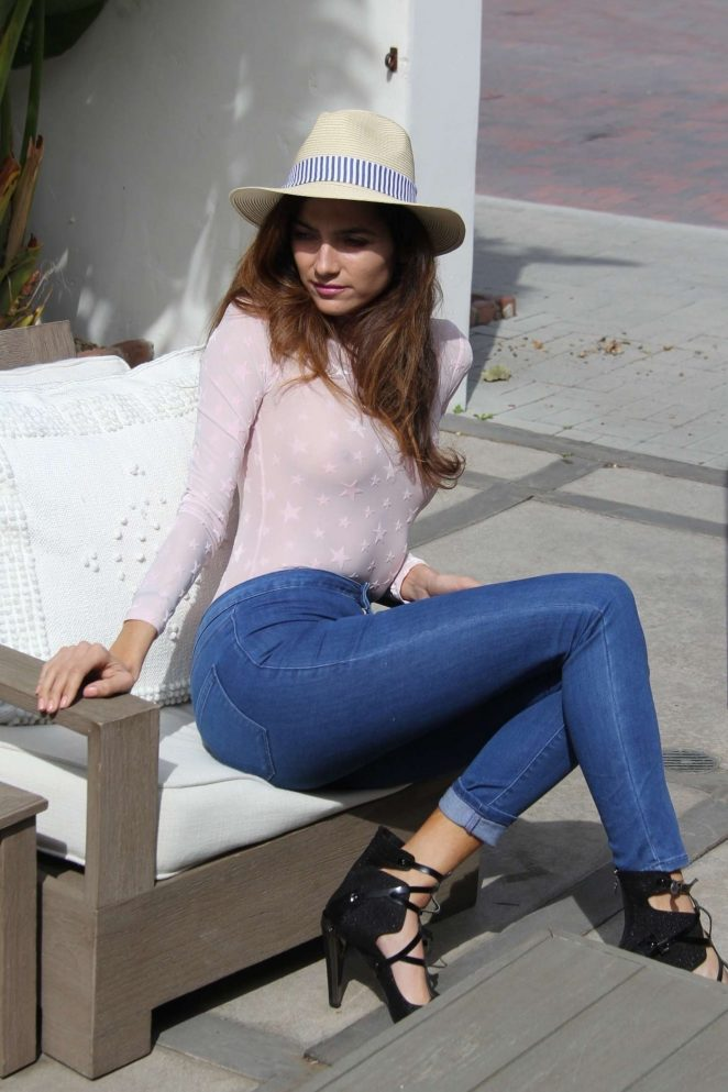 Blanca Blanco in Tight Jeans - Out in Malibu