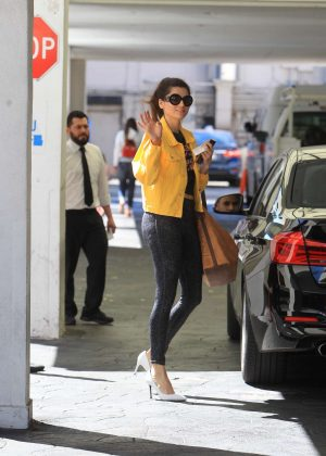 Blanca Blanco in Yellow Jacket - Out in Beverly Hills