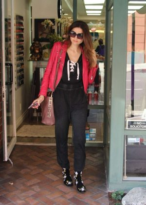 Blanca Blanco - Leaving the Beverly Hills Nail Design in Beverly Hills