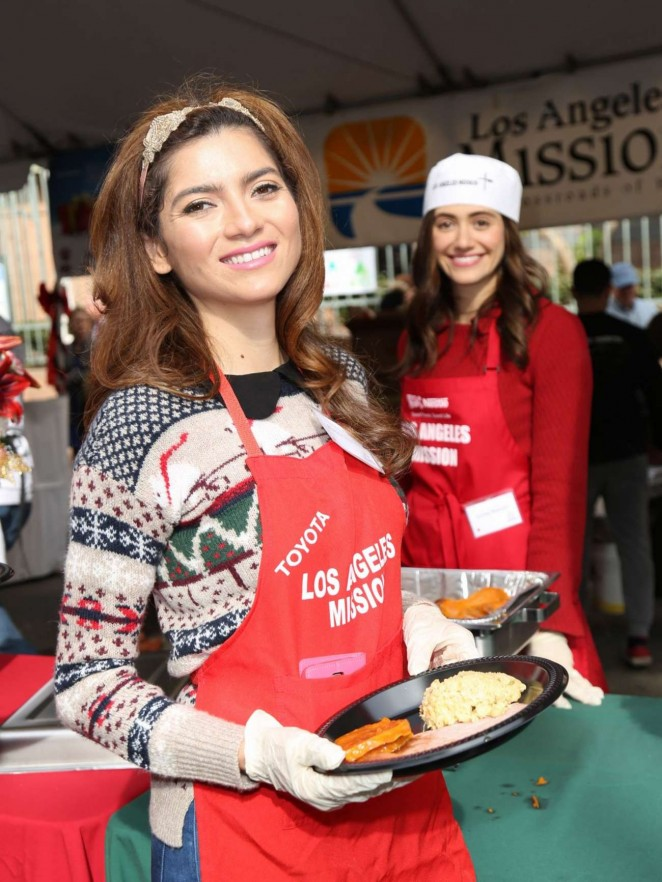 Blanca Blanco - Los Angeles Mission Christmas Dinner