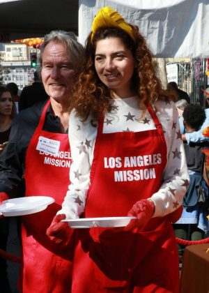 Blanca Blanco - Los Angeles Mission Hosts Thanksgiving Event For The Homeless
