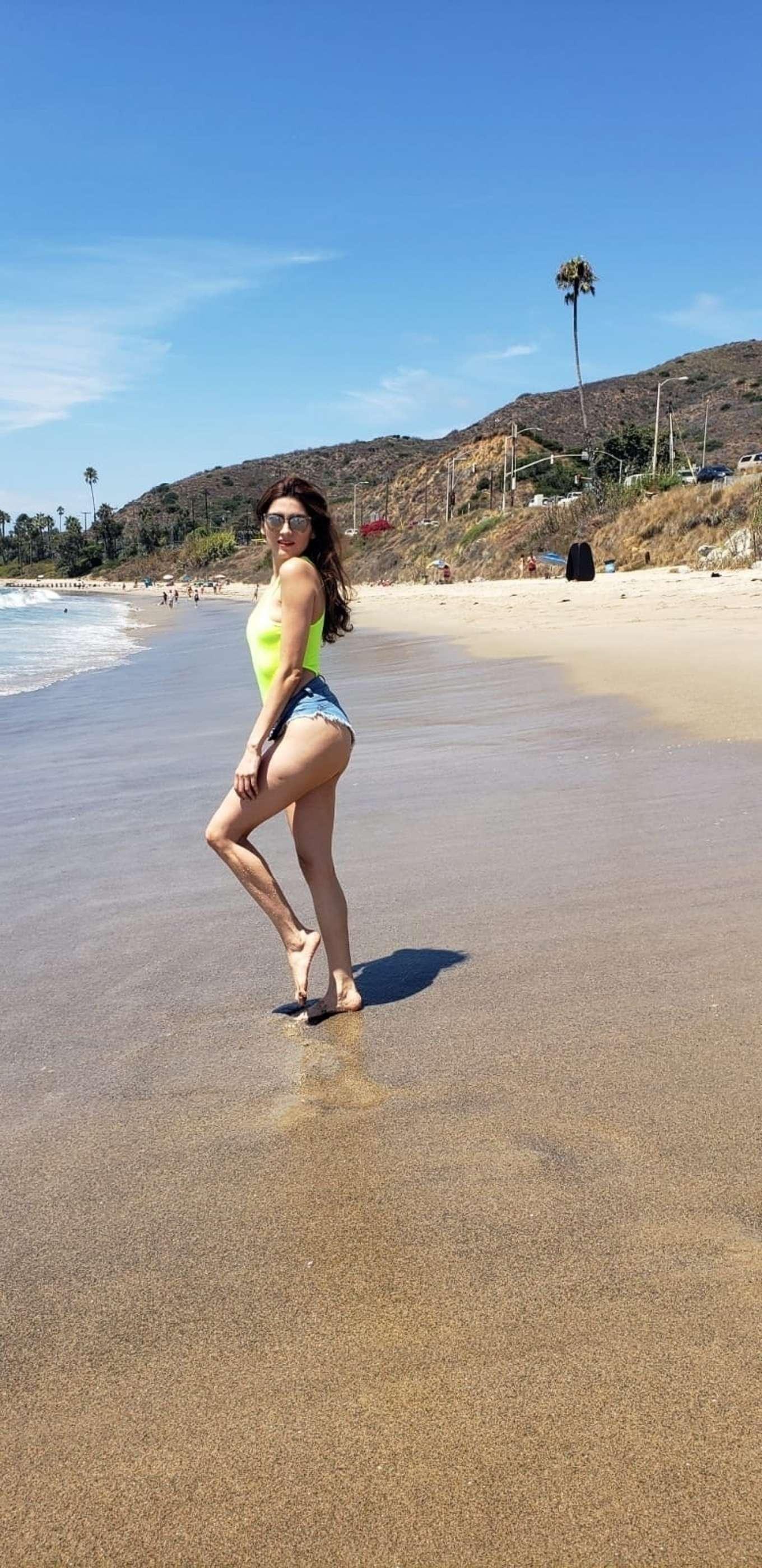 Blanca Blanco - On the beach in Malibu CA