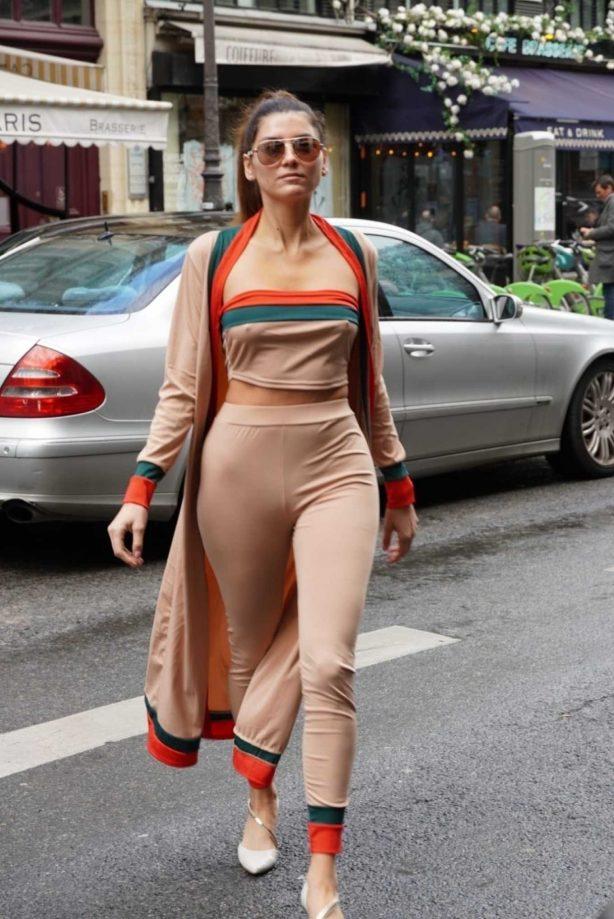 Blanca Blanco - Out on Paris Fashion Week