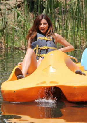 Blanca Blanco - Pedal boat ride on a lake in Malibu