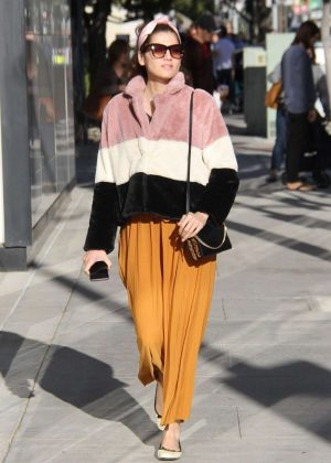 Blanca Blanco - Shopping on Rodeo Drive in Beverly Hills