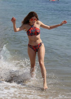 Blanca Blanco shows off her bikini bod at the beach in Malibu
