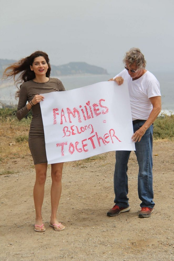 Blanca Blanco – Supports Family's Belong Together in Malibu