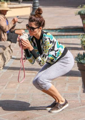 Blanca Blanco - Takes her bunny for a walk in Los Angeles