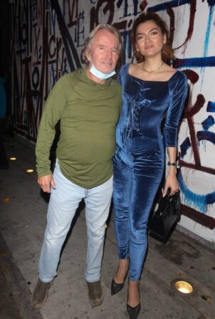 Blanca Blanco - With her partner John Savage arrive for dinner at Craig's in West Hollywood