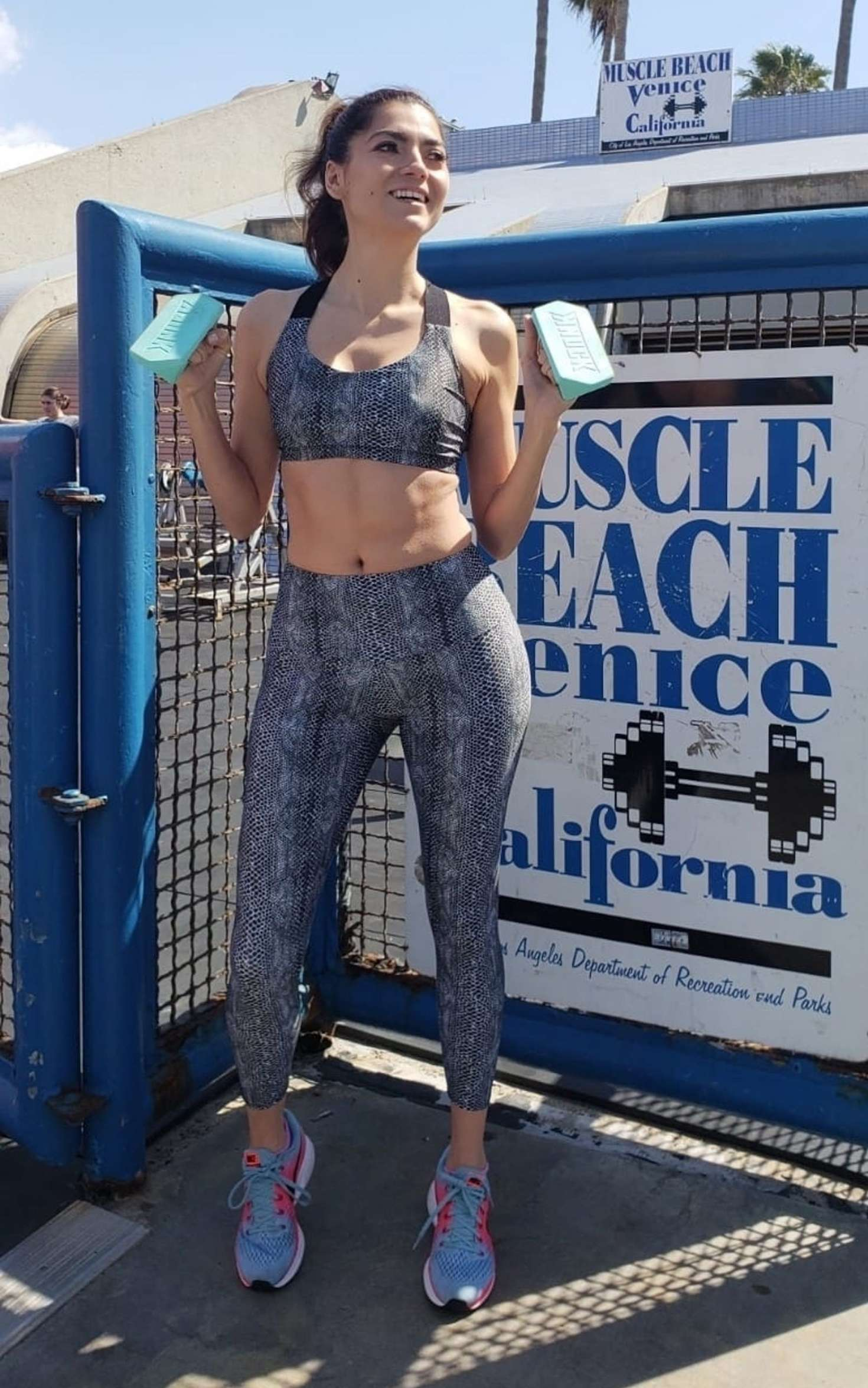 Blanca Blanco - Workout at Muscle Beach in Venice