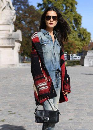 Blanca Padilla - Arrives at Elie Saab Fashion Show in Paris