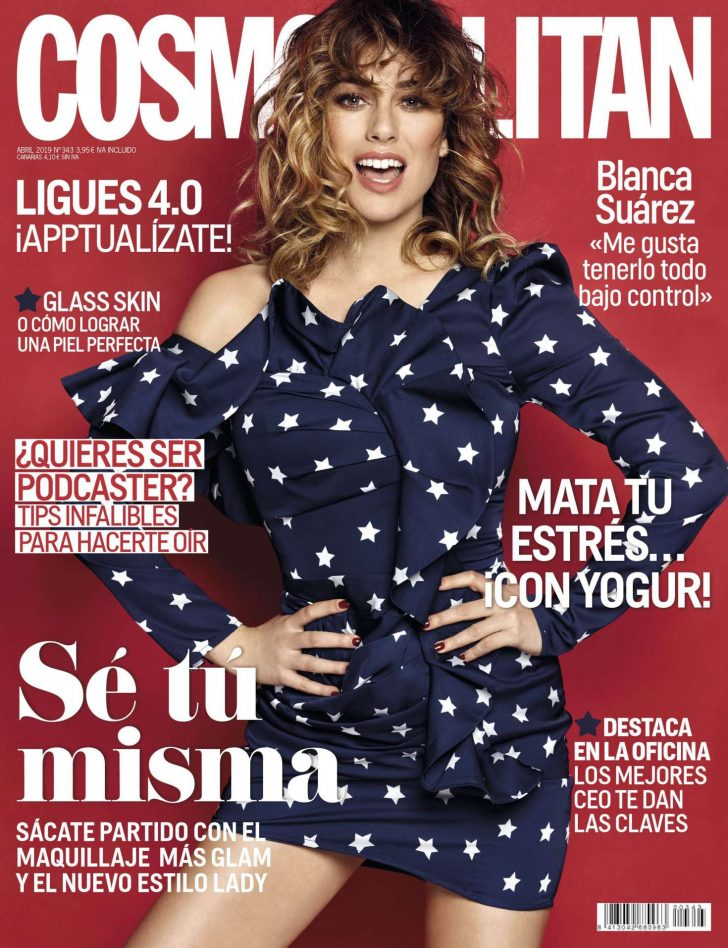 Blanca Suarez - Cosmopolitan Spain Cover Magazine (April 2019)