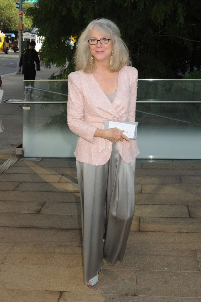 Blythe Danner - Arrives at Metropolitan Opera in New York