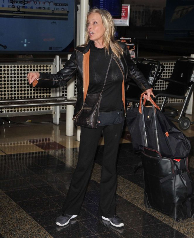 Bo Derek - Arrives in Washington