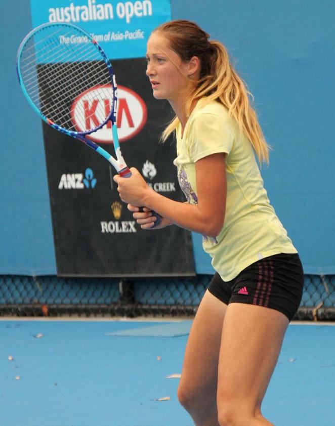 Bojana Jovanovski - Practice Session in Melbourne 2015