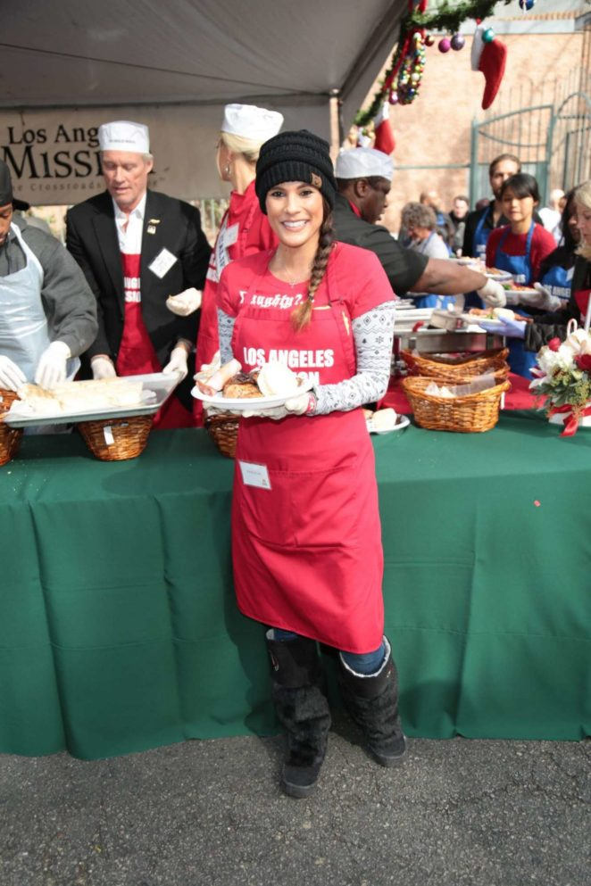 Bonnie Jill Laflin - Los Angeles Mission Serves Christmas to the Homeless in LA