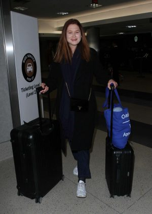 Bonnie Wright - Arrives at LAX Airport in LA