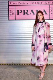 Bonnie Wright - Prada Resort 2020 Fashion Show in NY