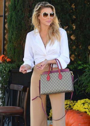 Brandi Glanville at Il Pastaio in Beverly Hills