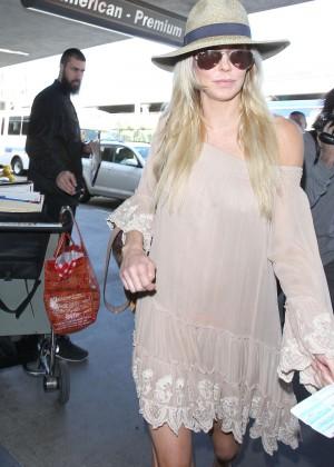 Brandi Glanville at Los Angeles International Airport