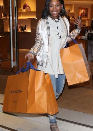 Brandy Norwood - Shopping in Beverly Hills