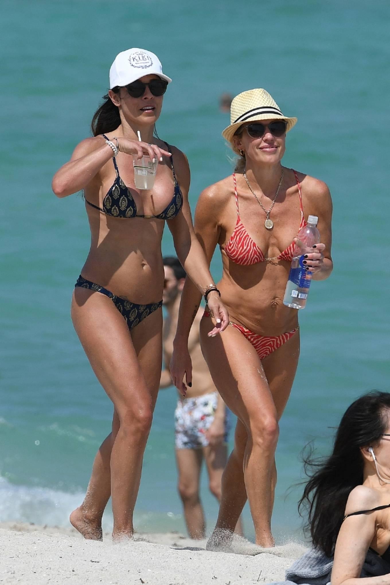 Braunwyn Windha-Burke 2021 : Braunwyn Windham-Burke – In a red bikini with Fernanda Rocha on the beach in Miami-06
