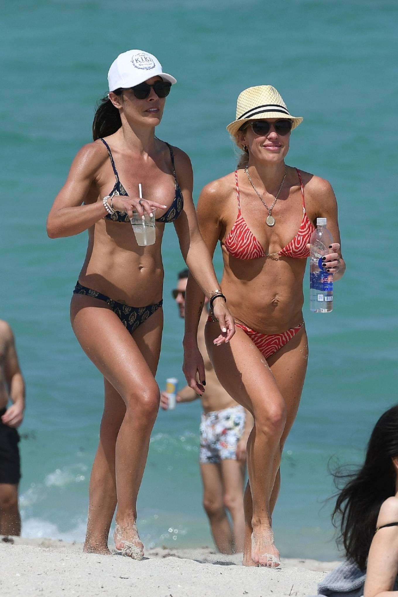 Braunwyn Windha-Burke 2021 : Braunwyn Windham-Burke – In a red bikini with Fernanda Rocha on the beach in Miami-12
